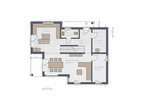 Bauhaus Solitaire-125-E11 - Schwabenhaus Grundriss EG