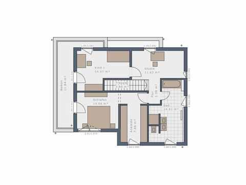 Bauhaus Solitaire-125-E11 - Schwabenhaus Grundriss OG