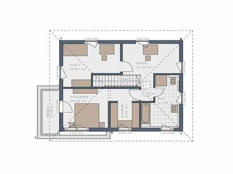 Einfamilienhaus Solitaire-E-125 E7 - Schwabenhaus Grundriss OG