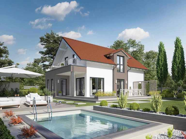 Einfamilienhaus Solitaire-E-125 E3 - Schwabenhaus