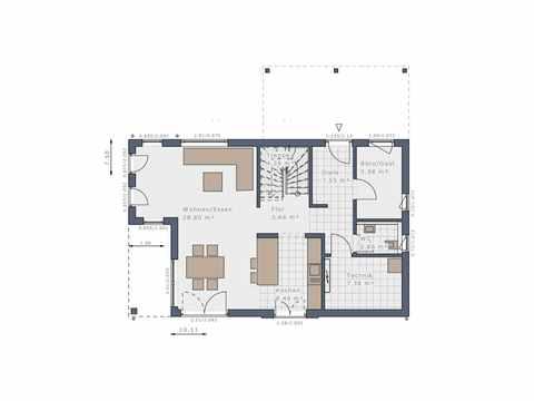 Einfamilienhaus Solitaire-E-125 E3 - Schwabenhaus Grundriss EG
