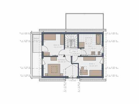 Einfamilienhaus Solitaire-E-125 E3 - Schwabenhaus Grundriss OG