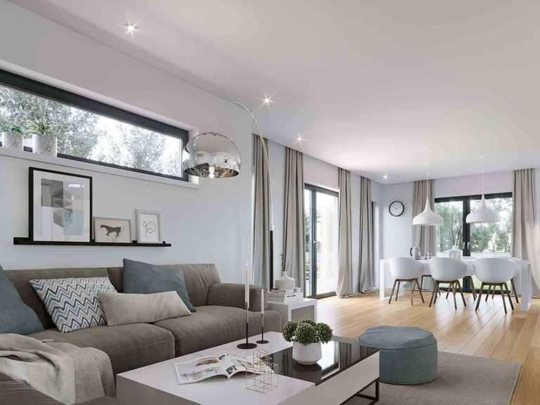 Einfamilienhaus Solitaire-E-125 E3 - Schwabenhaus Wohnbereich