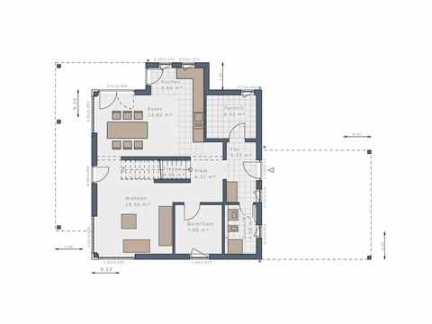 Einfamilienhaus Solitaire-E-145-E3 - Schwabenhaus Grundriss EG