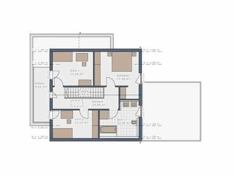 Einfamilienhaus Solitaire-E-145-E3 - Schwabenhaus Grundriss OG