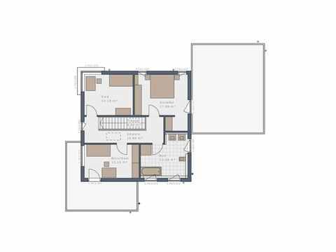 Bauhaus Solitaire-E-145-E9 - Schwabenhaus Grundriss OG