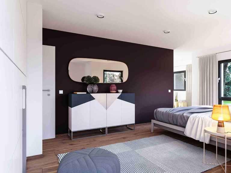 Einfamilienhaus Solitaire-E-145-E4 - Schwabenhaus Schlafzimmer