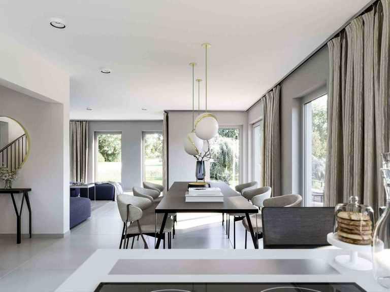 Einfamilienhaus Solitaire-E-145-E4 - Schwabenhaus Wohnbereich
