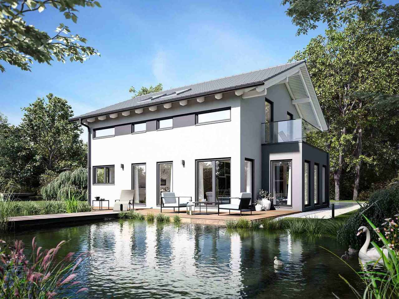 Einfamilienhaus Solitaire-E-145-E4 - Schwabenhaus