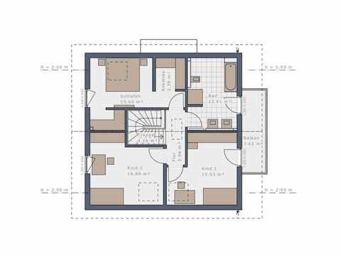 Einfamilienhaus Solitaire-E-145-E4 - Schwabenhaus Grundriss OG
