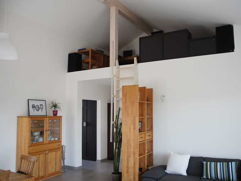 Bungalow 97 - Holzbau Kielwein Wohnzimmer