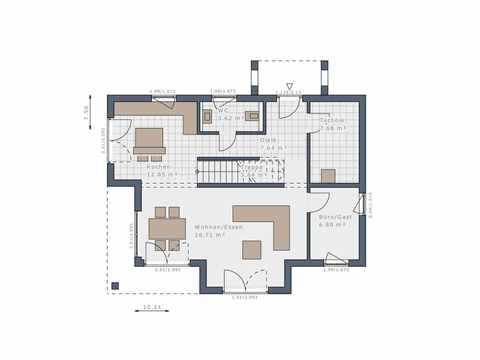 Einfamilienhaus Solitaire-E-125 E4 - Schwabenhaus Grundriss EG
