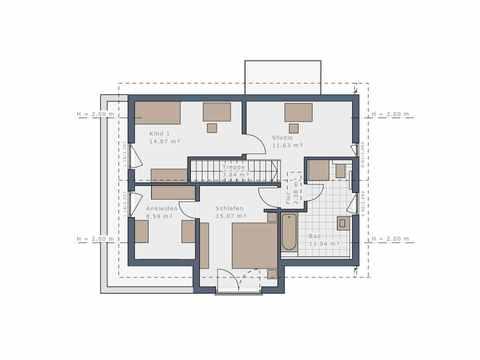 Einfamilienhaus Solitaire-E-125 E4 - Schwabenhaus Grundriss OG