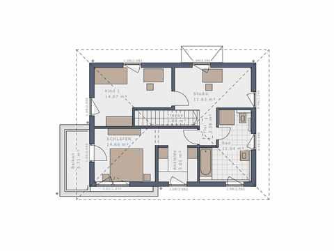 Stadtvilla Solitaire-E-125 E9 - Schwabenhaus Grundriss OG