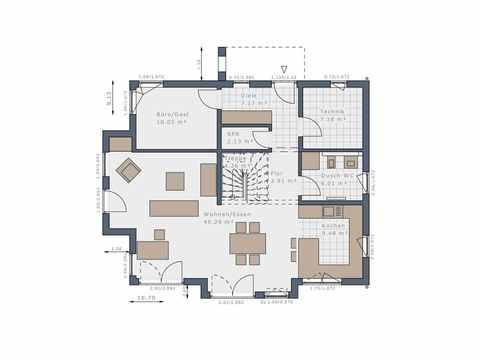 Einfamilienhaus Solitaire-E-165 E2 - Schwabenhaus Grundriss EG