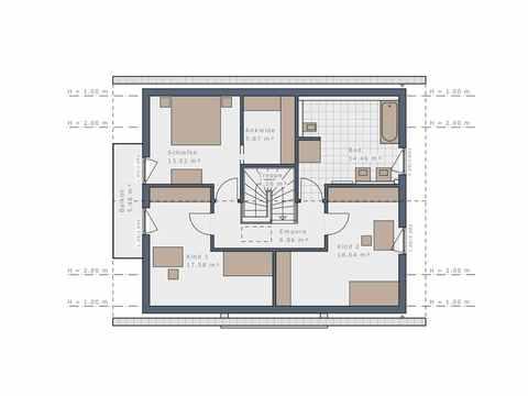 Einfamilienhaus Solitaire-E-165 E2 - Schwabenhaus Grundriss OG