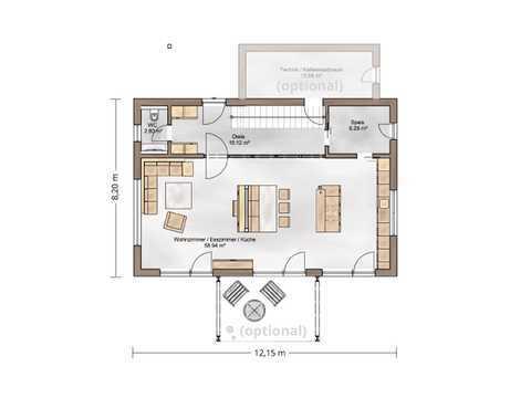 Referenzhaus Casa-Vita Grundriss EG