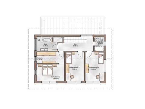 Referenzhaus Casa-Vita Grundriss OG