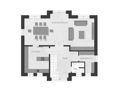 Musterhaus 1 Dexturis Bau Grundriss EG