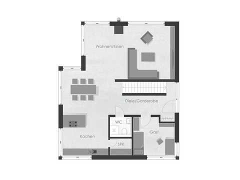 Musterhaus 2 Dexturis Bau Grundriss EG