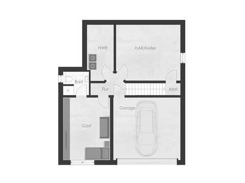 Musterhaus 2 Dexturis Bau Grundriss KG