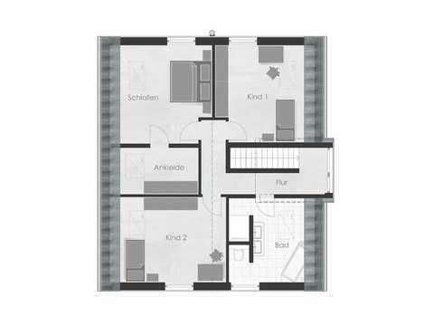 Musterhaus 2 Dexturis Bau Grundriss OG