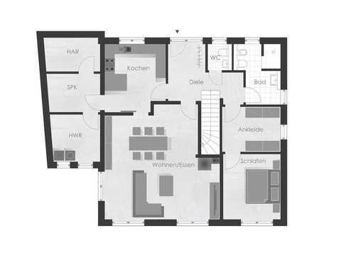 Musterhaus 4 Dexturis Bau Grundriss EG