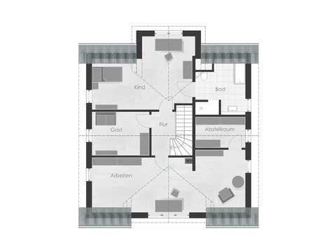Musterhaus 4 Dexturis Bau Grundriss OG