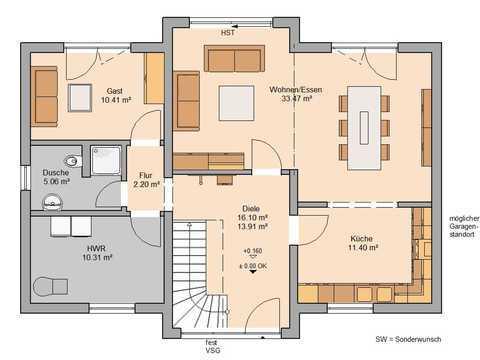 Familienhaus Aura Grundriss EG