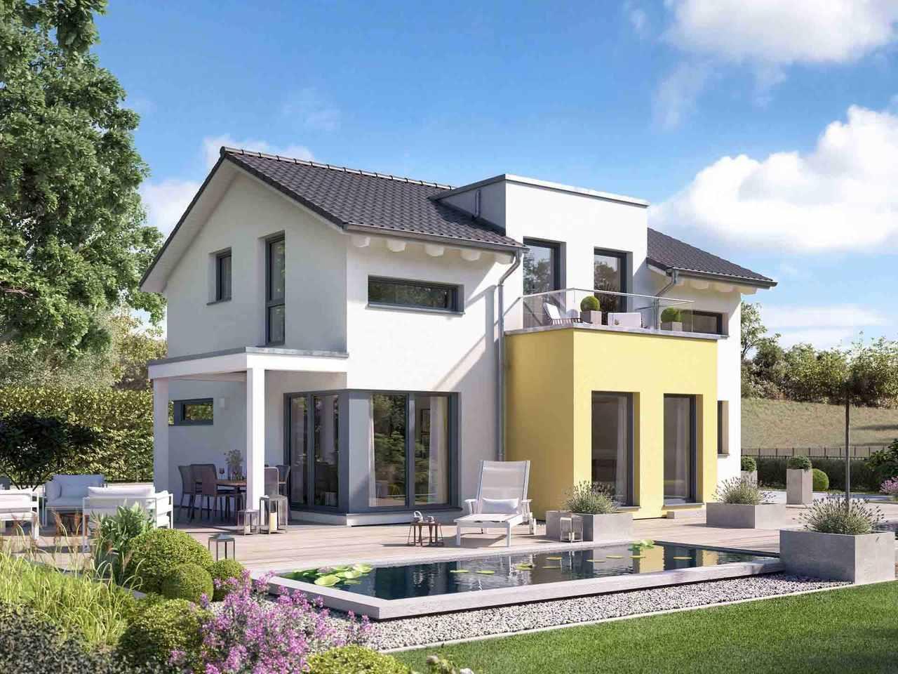 Einfamilienhaus Solitaire-E-125 E5 - Schwabenhaus