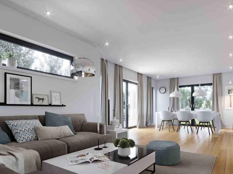 Einfamilienhaus Solitaire-E-125 E5 - Schwabenhaus Wohnzimmer