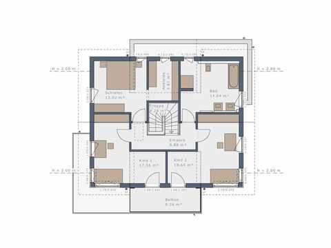 Einfamilienhaus Solitaire-E-165 E6 - Schwabenhaus Grundriss OG