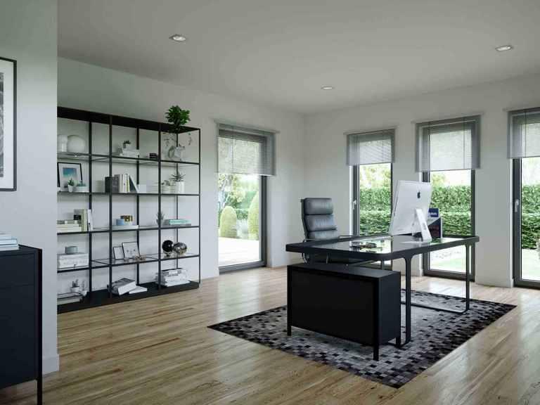 Einfamilienhaus Solitaire-E-165 E6 - Schwabenhaus Arbeitszimmer
