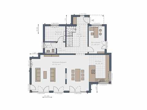Einfamilienhaus Selection-E-175 E2 - Schwabenhaus Grundriss EG