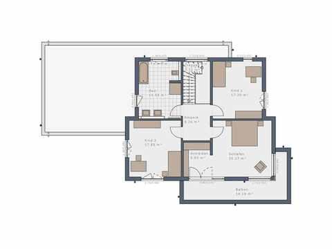 Einfamilienhaus Selection-E-175 E6 - Schwabenhaus Grundriss OG