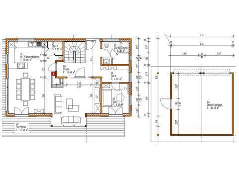 Blockhaus Chieming Grundriss EG