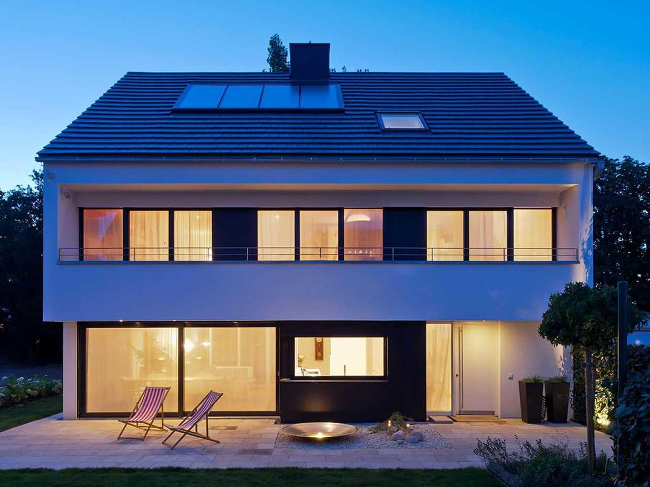 KitzlingerHaus - Referenzhaus Stuttgart Sicht am Abend