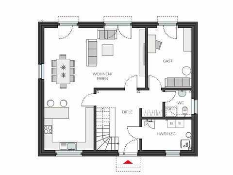 Einfamilienhaus ProStyle 181 Grundriss EG