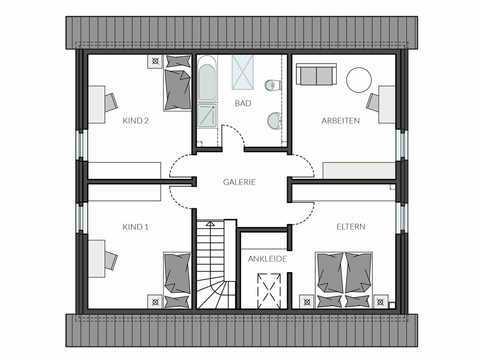 Einfamilienhaus ProStyle 181 Grundriss OG