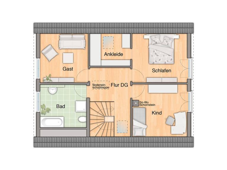 Bodensee 129 Grundriss Dachgeschoss