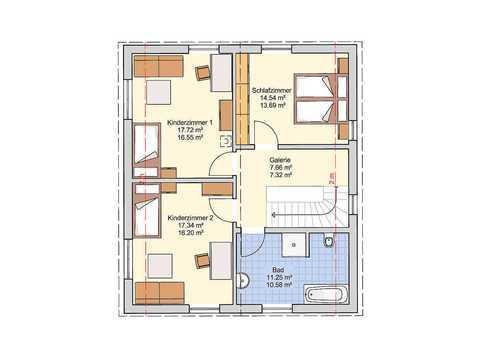 Einfamilienhaus Oslo Grundriss OG