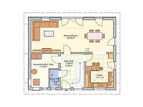 Einfamilienhaus Wien Grundriss EG