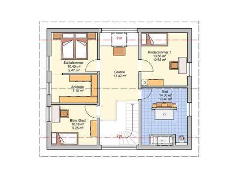 Einfamilienhaus Wien Grundriss OG
