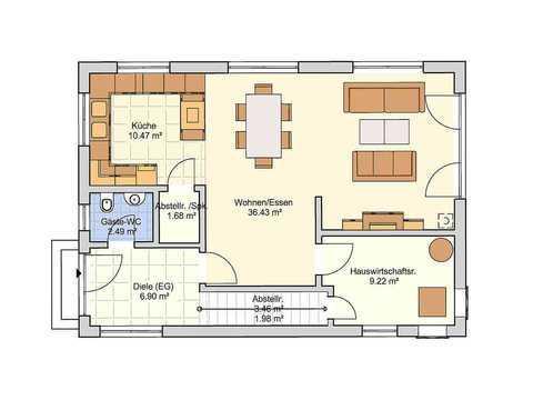 Einfamilienhaus Dublin Grundriss EG