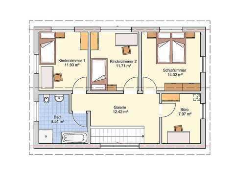 Einfamilienhaus Dublin Grundriss OG