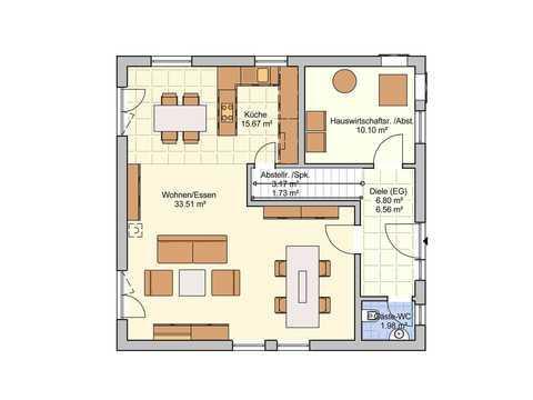 Einfamilienhaus London Grundriss EG