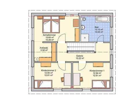 Einfamilienhaus London Grundriss OG