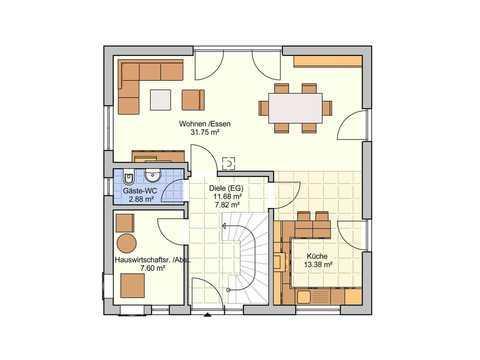 Einfamilienhaus Lissabon Grundriss EG