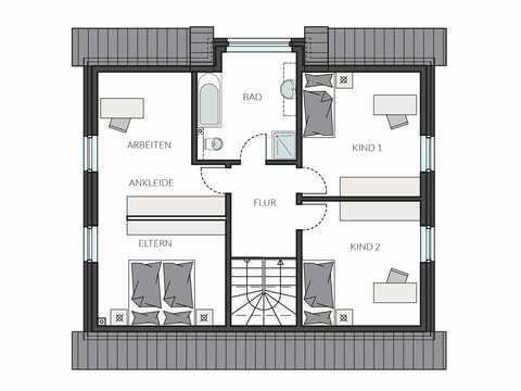 Einfamilienhaus ProFamily 143 Grundriss OG