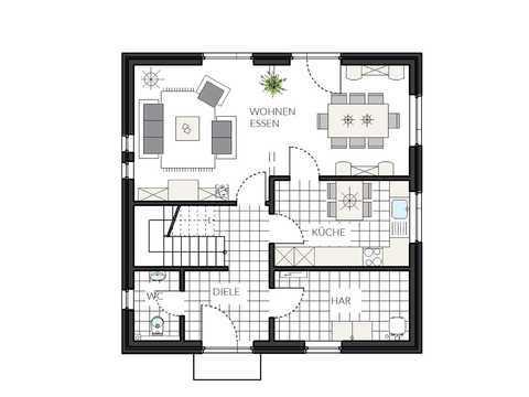 Einfamilienhaus ProFamily 124 Grundriss EG